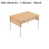 A1 – 1 drawer