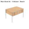 A1 – 3 drawer