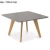 ECOS Solid Oak Informal Tables (Small) – Radius Edge 740mm high