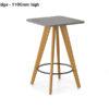 ECOS Solid Oak Informal Tables (Small) – Radius Edge 1100mm high