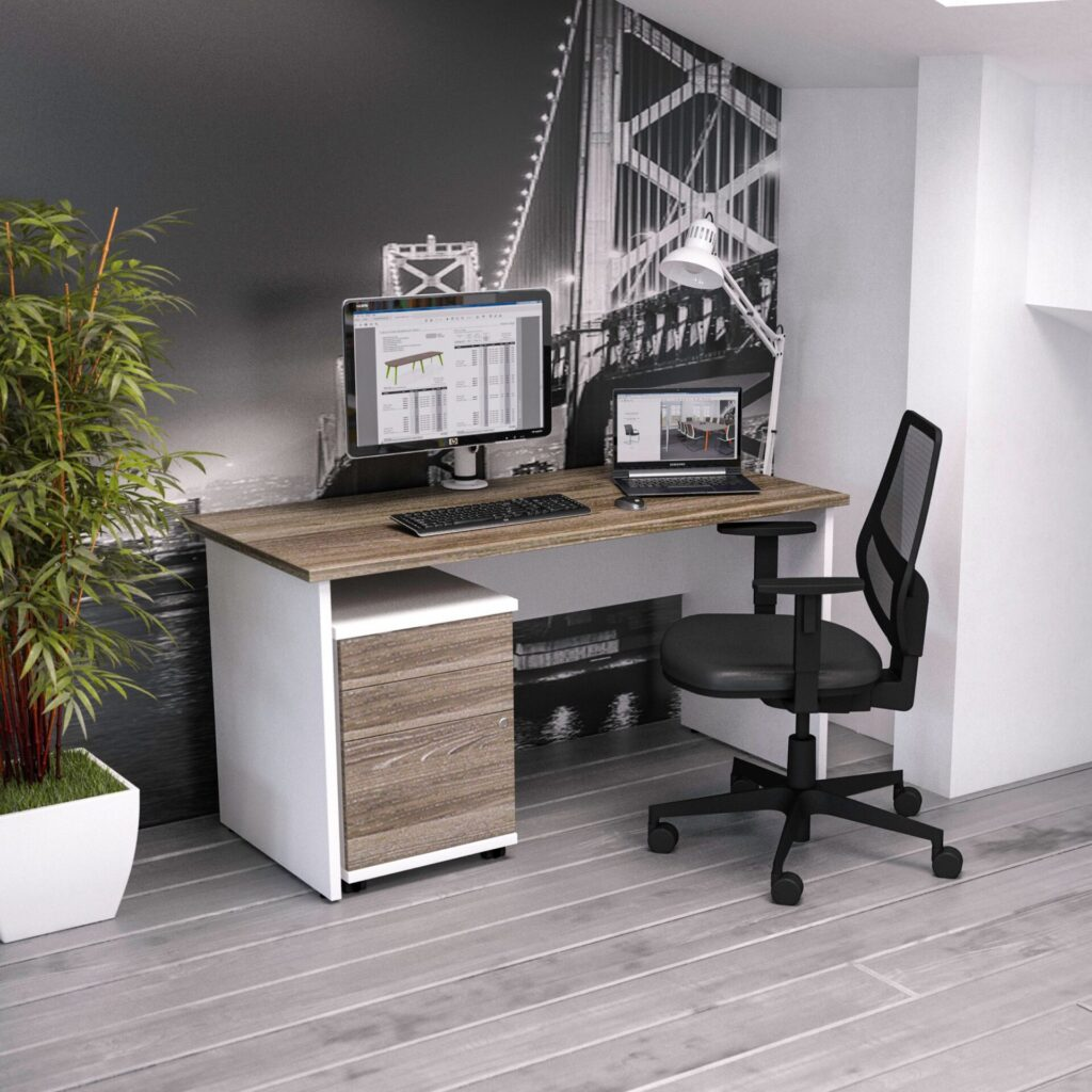 HOME OFFICE DESKS (TWO TONE)